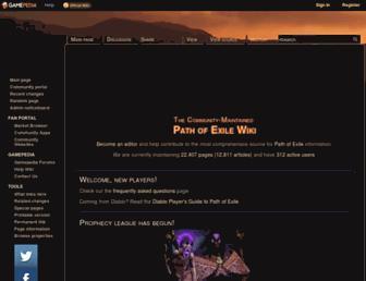 pathofexile.gamepedia.com screenshot