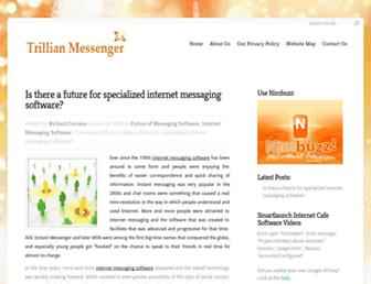 Main page screenshot of trillian-messenger.net