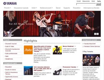 it.yamaha.com screenshot