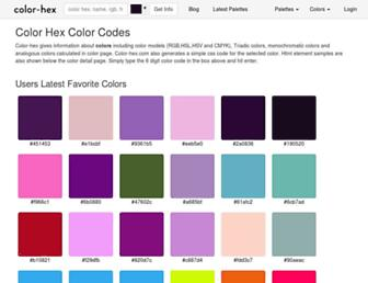 color-hex.com screenshot