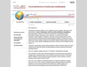 ulsi.lv screenshot