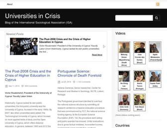 isa-universities-in-crisis.isa-sociology.org screenshot
