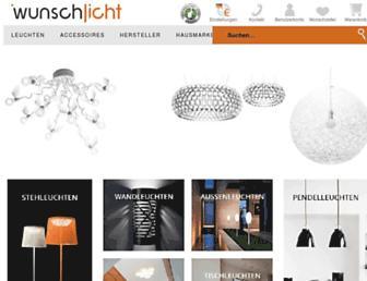 Main page screenshot of wunschlicht.de