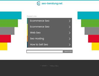 Main page screenshot of seo-beratung.net