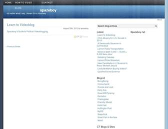 Main page screenshot of spazeboy.net