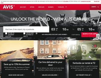 Thumbshot of Avis.co.uk