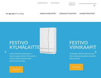 Main page screenshot of suomen-kotikylmio.fi