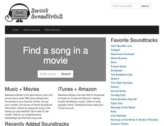 sweetsoundtrack.com screenshot