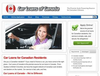 carloansofcanada.com screenshot