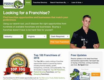 franchisegator.com screenshot