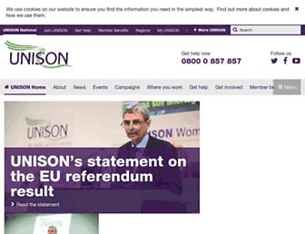 unison.org.uk screenshot