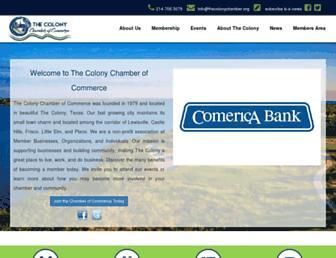 thecolonychamber.com screenshot