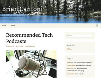 Main page screenshot of cantoni.org