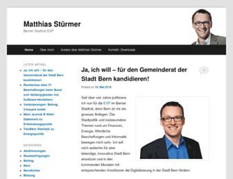 Main page screenshot of stuermer.ch