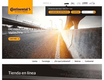 continentaltire.mx screenshot