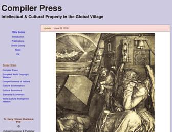 Main page screenshot of compilerpress.ca