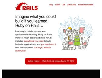 Thumbshot of Rubyonrails.org