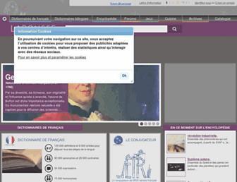 Main page screenshot of larousse.fr