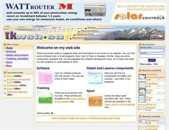 Main page screenshot of tkweb.eu
