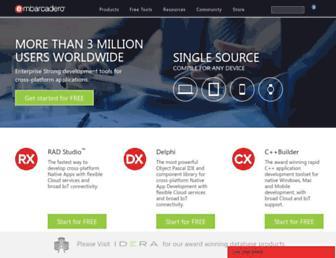 embarcadero.com screenshot