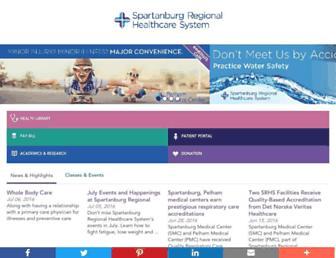 spartanburgregional.com screenshot