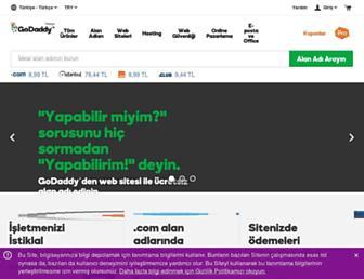 tr.godaddy.com screenshot