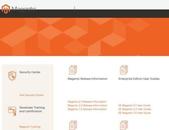 docs.magento.com screenshot