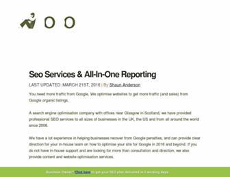 Main page screenshot of hobo-web.co.uk
