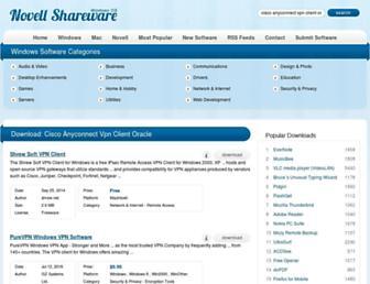 cisco-anyconnect-vpn-client-oracle.windows.novellshareware.com screenshot