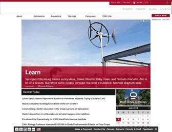 Main page screenshot of cwu.edu