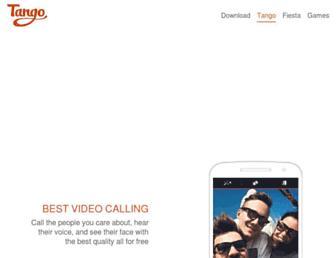 Main page screenshot of tango.me