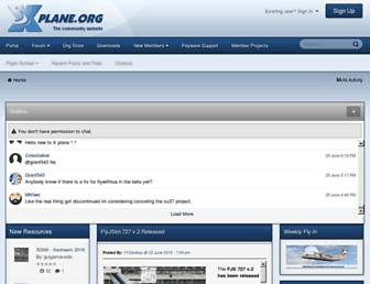 Main page screenshot of forums.x-plane.org