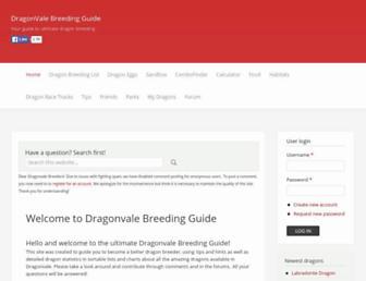 dragonvalebreedingguide.com screenshot