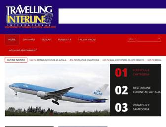 Main page screenshot of travelling.travelsearch.it
