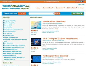 Thumbshot of Watchknowlearn.org