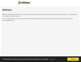 mahara.uhi.ac.uk screenshot