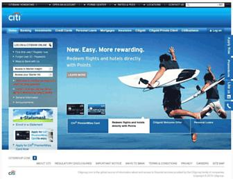citibank.com.hk screenshot