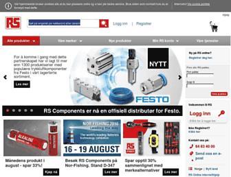 no.rs-online.com screenshot