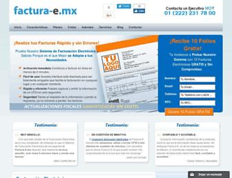 factura-e.mx screenshot