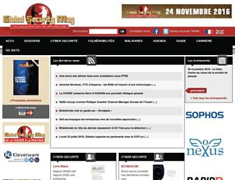 Main page screenshot of globalsecuritymag.fr