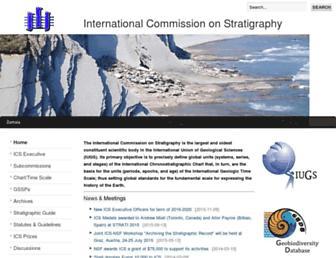 stratigraphy.org screenshot