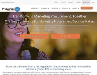 procureconmarketing.wbresearch.com screenshot