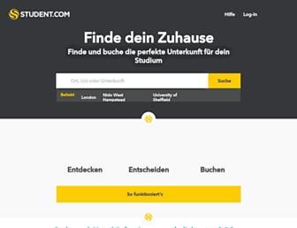 Main page screenshot of uni.student.de