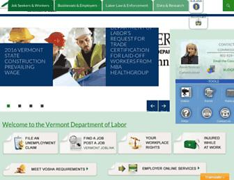 labor.vermont.gov screenshot