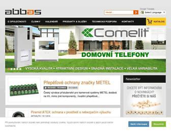 Main page screenshot of abbas.cz