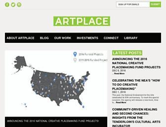 Main page screenshot of artplaceamerica.org