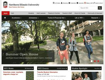 Main page screenshot of niu.edu