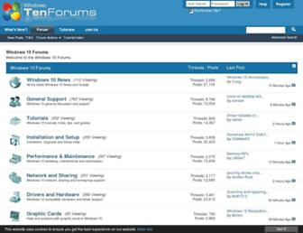 tenforums.com screenshot