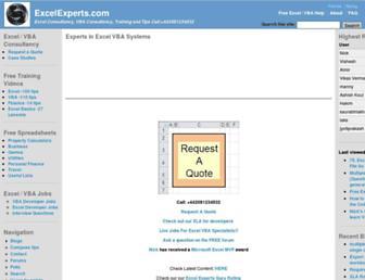 excelexperts.com screenshot