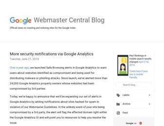 webmasters.googleblog.com screenshot